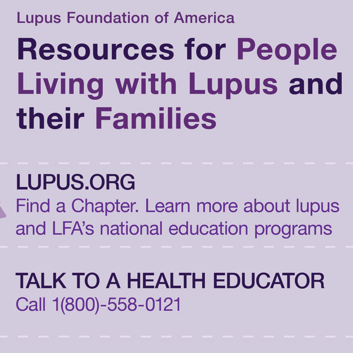 New Life Outlook - Lupus Infographic: Popular Resources for You, Your Family and Friends