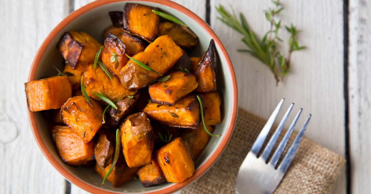 Dish of sweet potatoes